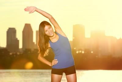lady exercising